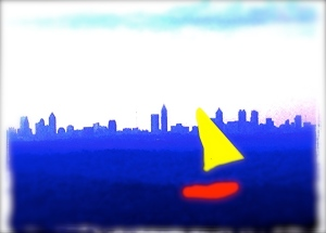 sailing on the atlanta skyline