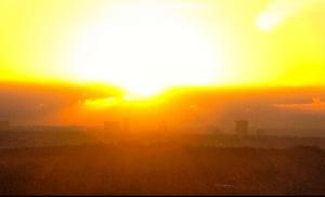 sunrise on atlanta skyline