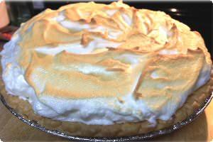 Grandmother's lemon meringue pie